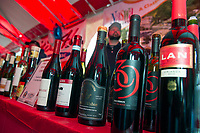 A full line up of wines and beers were on tap during the Red, White and Brew Fest at Funspot with Veterans Count and Naswa Resort on Saturday afternoon.    (Karen Bobotas/for the Laconia Daily Sun)