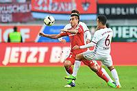 v.l. Dario Lezcano (Ingolstadt), Thiago Alcantara<br /> Ingolstadt, 11.02.2017, Fussball Bundesliga, FC Ingolstadt 04 - FC Bayern München 0:2ga, Bayer 04 Leverkusen - Eintracht Frankfurt 3:0<br /> <br /> Norway only