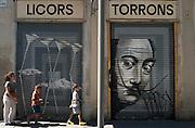 Salvador Dali mural, El Raval, Barcelona, Spain