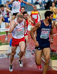 06-07-2016 NED: European Athletics Championships, Amsterdam<br /> Mahiedine Mekhissi Benabbad FRA, Krystian Zalewski POL