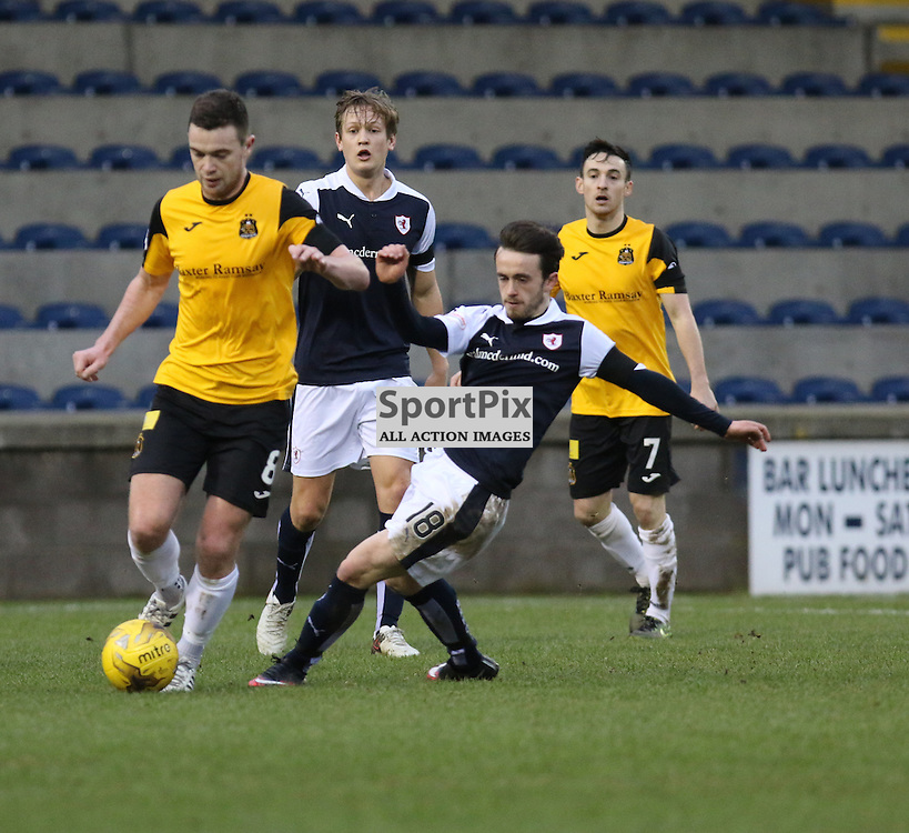 Grant Gallagher goes forward  during the Raith Rovers v Dumbarton  Scottish Championship 23 January 2016<br /> <br /> (c) Andy Scott | SportPix.org.uk