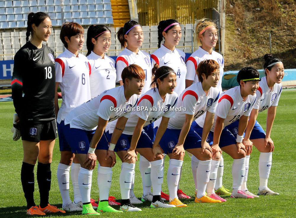 Fifa Womans World Cup Canada 2015 - Preview //<br /> Cyprus Cup 2015 Tournament ( Gsz Stadium Larnaca  - Cyprus ) - <br /> Canada vs South Korea 1-0  // Team Group of South Korea , from the left up :<br /> KIM Jungmi ,LIM Seonjoo ,SEO Hyunsook ,SHIN Damyeong ,SHIM Seoyeon ,CHO Sohyun //<br /> JUNG Seolbin ,YEO Minji ,YOO Younga ,KWON Hahnul ,LEE Jeongeun