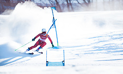 February 15, 2018 - Pyeongchang, South Korea - NINA HAVER-LOESETH of Norway on her first run at the Womens Giant Slalom event Thursday, February 15, 2018 at the Yongpyang Alpine Centerl at the Pyeongchang Winter Olympic Games.  Photo by Mark Reis, ZUMA Press/The Gazette (Credit Image: © Mark Reis via ZUMA Wire)