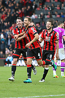 Football - 2016 / 2017 Premier League - AFC Bournemouth vs. Hull City<br /> <br /> Bournemouth's Dan Gosling celebrates scoring his sides sixth goal with Adam Smith at Dean Court (The Vitality Stadium) Bournemouth<br /> <br /> Colorsport/Shaun Boggust