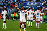 Goal Depay Memphis of Lyon during the French championship L1 football match between Olympique Lyonnais and Amiens on August 12th, 2018 at Groupama stadium in Decines Charpieu near Lyon, France - Photo Romain Biard / Isports / ProSportsImages / DPPI