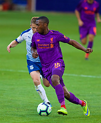 BIRKENHEAD, ENGLAND - Tuesday, July 10, 2018: Liverpool's Daniel Sturridge during a preseason friendly match between Tranmere Rovers FC and Liverpool FC at Prenton Park. (Pic by Paul Greenwood/Propaganda)