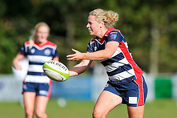 Amber Reed (capt) of Bristol Ladies passes - Rogan Thomson/JMP - 16/10/2016 - RUGBY UNION - Cleve RFC - Bristol, England - Bristol Ladies Rugby v Lichfield Ladies - RFU Women's Premiership.