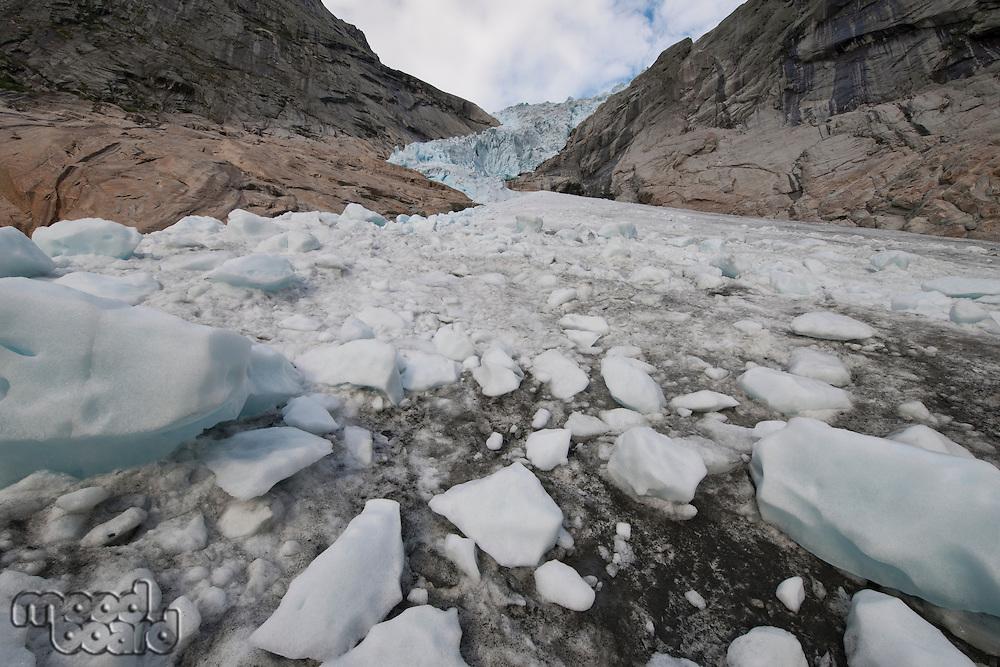 Norwegian glacier Jostedalsbreen