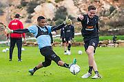 ESTEPONA - 07-01-2016, AZ in Spanje 7 januari, AZ speler Gino Coutinho, AZ speler Ben Rienstra
