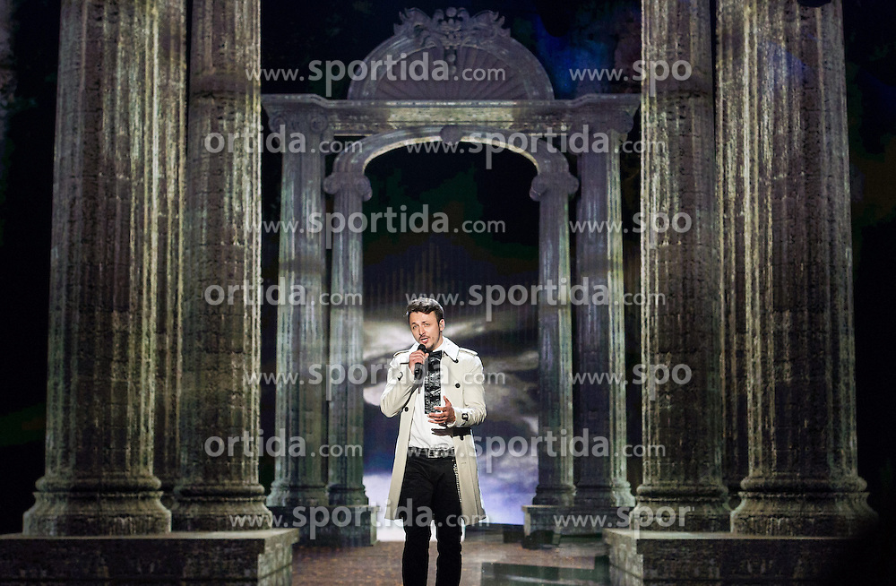 18.05.2015, Stadthalle, Wien, AUT, Eurovision Songcontest Vienna 2015, Kostümrpobe des Ersten Semifinales, im Bild Daniel Kajmakoski aus Mazedonien // Daniel Kajmakoski from Macedonia during dress rehearsal of the 1st semi final for Eurivision Songcontest Vienna 2015 at Stadthalle in Vienna, Austria on 2015/05/18, EXPA Pictures © 2015, PhotoCredit: EXPA/ Michael Gruber