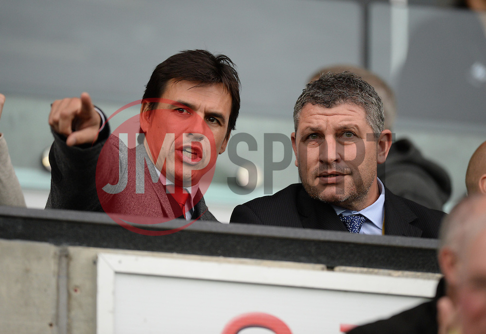 (left) Wales manger Chris Coleman looks on at the liberty Stadium.  - Mandatory byline: Alex James/JMP - 07966 386802 - 04/10/2015 - FOOTBALL - Liberty stadium - Swansea, England - Swansea City  v Tottenham hotspur - Barclays Premier League