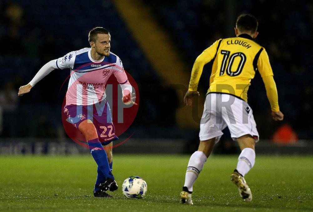 Niall Maher of Bury passes the ball - Mandatory by-line: Robbie Stephenson/JMP - 24/10/2016 - FOOTBALL - Gigg Lane - Bury, England - Bury v Bolton Wanderers - Sky Bet League One