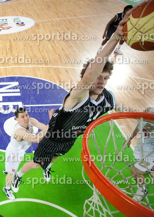 Jan Vesely Veseli of Partizan during final match of Basketball NLB League at Final four tournament between KK Union Olimpija (SLO) and Partizan Belgrade (SRB), on April 21, 2011 in Arena Stozice, Ljubljana, Slovenia. Partizan defeated Union Olimpija 77-74 and became NLB league Champion 2011.  (Photo By Vid Ponikvar / Sportida.com)