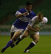 24/05/2002 (Friday).Sport -Rugby Union - London Sevens.England vs Samoa[Mandatory Credit, Peter Spurier/ Intersport Images].