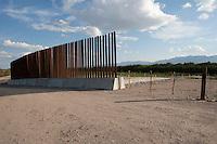 Border Fence along Rio Grande near Ft. Quitman, Texas Border Wall.