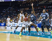 The JCSU Lady Bulls took on the Blue Bears of Livingstone College at the 2015 CIAA Tournament in Charlotte North Carolina.