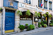 La Machonnerie Restaurant in old town Vieux Lyon, France (UNESCO World Heritage Site)