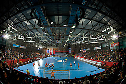 Arena Slovan Kodeljevo at handball match of Round 2 of Champions League between RK Krim Mercator and Aalborg DH, on October 31, 2009, in Arena Kodeljevo, Ljubljana, Slovenia.  Krim won 30:23. (Photo by Vid Ponikvar / Sportida)