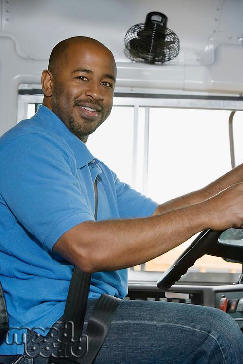 School Bus Driver in School Bus