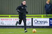 Forest Green Rovers Lee Collins(5) warming up during the EFL Sky Bet League 2 match between Forest Green Rovers and Mansfield Town at the New Lawn, Forest Green, United Kingdom on 15 December 2018.