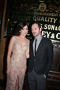 Zrinka Cvitesic; Declan Bennett; , Press night performance of 'Once' at the Phoenix Theatre, Charing Cross Rd, -after party at Waxy O'Connor's, Rupert St. London. 9 april 2013.
