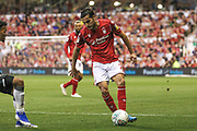 Yuri Ribeiro (2) of Nottingham Forest during the EFL Cup match between Nottingham Forest and Derby County at the City Ground, Nottingham, England on 27 August 2019.