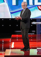 Moderator Wolf Blitzer during the Republican Presidential Debate at the University of Houston in Houston, Texas on February 25, 2016.