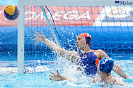 24-07-2017: Waterpolo: Nieuw Zeeland v Nederland: Boedapest<br /> <br /> (L-R) Debby Williemsz of team Netherlands during the waterpolomatch between women New Zealand and Netherlands at the 17th FINA World Championships 2017 in Budapest, Hungary<br /> <br /> Photo / Foto: Gertjan Kooij