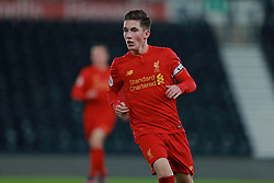 DERBY, ENGLAND - Monday, November 28, 2016: Liverpool's Harry Wilson in action against Derby County during the FA Premier League 2 Under-23 match at Pride Park. (Pic by David Rawcliffe/Propaganda)
