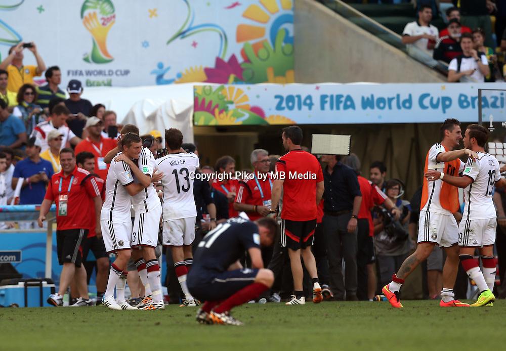 Fifa Soccer World Cup - Brazil 2014 - <br /> FRANCE (FRA) Vs. GERMANY (GER) - Quarter-finals - Estadio do Maracana Rio De Janeiro -- Brazil (BRA) - 04 July 2014 <br /> Here German team celebrating the victory. End of the match 0-1. <br /> &copy; PikoPress
