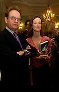 Mr. and Mrs. Ion Florescu, Party to celebrate the publication of ' The Swallow and the Hummingbird by Santa Sebag-Montefiore. The English Speaking Union. 15 March 2004. ONE TIME USE ONLY - DO NOT ARCHIVE  © Copyright Photograph by Dafydd Jones 66 Stockwell Park Rd. London SW9 0DA Tel 020 7733 0108 www.dafjones.com
