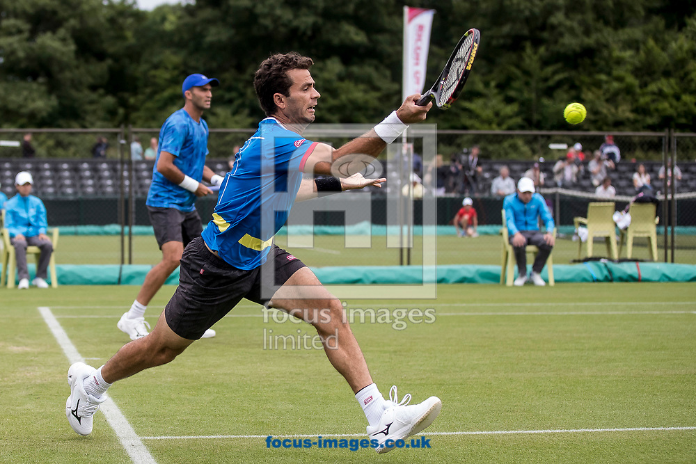 Jean-Julien Rojer (NED) in a double match on day two of the Ricoh Open Tennis Tournament at the Autotron, Rosmalen, Netherlands.<br /> Picture by Joep Joseph Leenen/Focus Images Ltd +316 5261929<br /> 13/06/2017<br /> ***NETHERLANDS OUT***