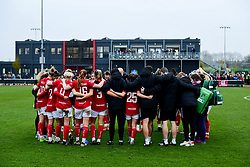 Bristol City Women huddle after the final whistle of the match  - Mandatory by-line: Ryan Hiscott/JMP - 24/11/2019 - FOOTBALL - Stoke Gifford Stadium - Bristol, England - Bristol City Women v Manchester City Women - Barclays FA Women's Super League