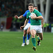 Brian O' Driscoll, Ireland, scores his sides first try of the match during the Ireland V Italy Pool C match during the IRB Rugby World Cup tournament. Otago Stadium, Dunedin, New Zealand, 2nd October 2011. Photo Tim Clayton...