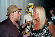 omid djalili ; VANESSA FELTZ, AFTER-PARTY FOR GHOST. St. Martin's Lane hotel London. 14 July 2010. -DO NOT ARCHIVE-© Copyright Photograph by Dafydd Jones. 248 Clapham Rd. London SW9 0PZ. Tel 0207 820 0771. www.dafjones.com.