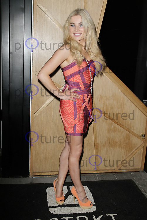 LONDON - MAY 02: Sian Welby attends the Nick Ede birthday party at Dstrkt, London, UK. May 02, 2012. (Photo by Richard Goldschmidt)