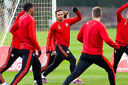 Memphis Depay of Manchester United warms up - Mandatory byline: Matt McNulty/JMP - 07966386802 - 20/10/2015 - FOOTBALL - Aon Training Complex -Manchester,England - UEFA Champions League
