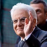 Il presidente della Repubblica Mattarella alla commemorazione di Bachelet