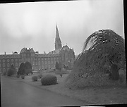 Bishops Meeting at Maynooth..09.03.1971..03.09.1971..9th March 1971..The Cardinal and Bishops met in Maynooth today.The purpose of the meeting was to establish the way forward for the Catholic Church in Ireland..A scenic view of Maynooth and some of the grounds..St. Patrick's College, Maynooth, was founded in 1795 as the National Seminary for all of Ireland. In addition to the courses in philosophy and theology required for the education of candidates for the priesthood, its curriculum included courses in the Humanities (Classics, English, Irish and Modern Languages) and Natural Philosophy . At the time of the celebration of the College's first centenary, permission was sought from Rome to confer canonical degrees in Philosophy, Theology and Canon Law. This was achieved in 1896 with the grant of a Charter as a Pontifical University.(Adapted from Maynooth website)