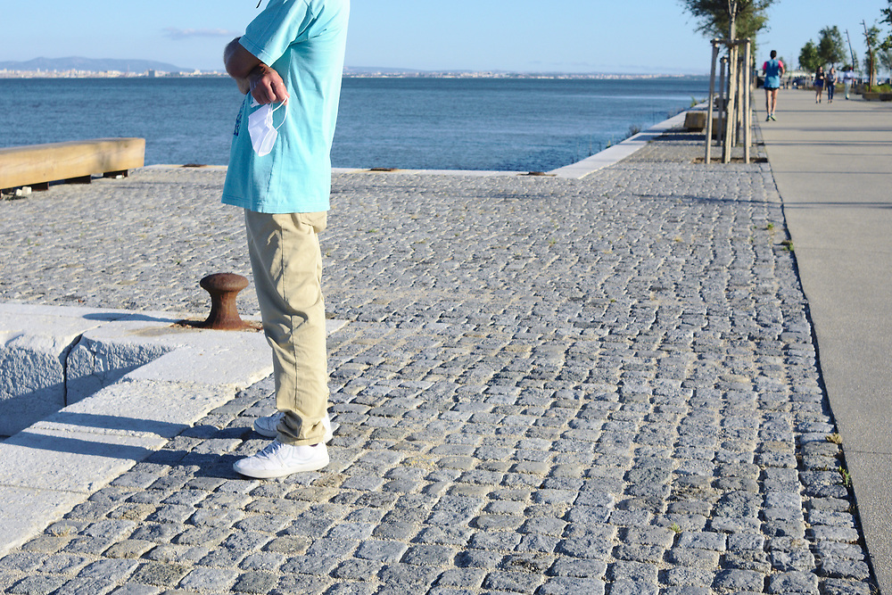 Weekend free time by the Tagus river in Lisbon.