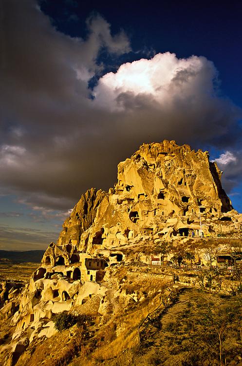 Uchisar Castle (rock fortress), Uchisar, Cappadocia, Turkey