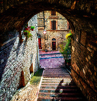 """Alley of the stairs - Assisi""..."