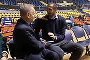 Giovanni Petrucci, Giorgio Chiellini<br /> Nazionale Italiana Maschile Senior - Giorgio Chiellini visita gli Azzurri in Allenamento<br /> FIP 2017<br /> Torino, 23/11/2017<br /> Foto M.Ceretti / Ciamillo-Castoria