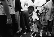 Young boy dancing at the Moss Side Carnival, Alexandra Park, Manchester 1989