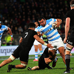 Agustin Creevy in action during the Rugby Championship match between the NZ All Blacks and Argentina Pumas at Yarrow Stadium in New Plymouth, New Zealand on Saturday, 9 September 2017. Photo: Dave Lintott / lintottphoto.co.nz