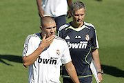Jose Mourinho takes charge of his first training session for in Valdebebas, Madrid. 16th July 2010.