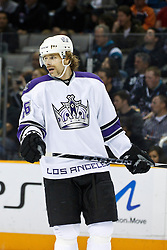 November 15, 2010; San Jose, CA, USA;  Los Angeles Kings center Michal Handzus (26) before a face off against the San Jose Sharks during the first period at HP Pavilion. San Jose defeated Los Angeles 6-3. Mandatory Credit: Jason O. Watson / US PRESSWIRE