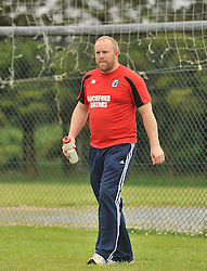 Ballyhaunis's manager Tomas Morley during the Intermediate Championship clash on sunday.<br /> Pic Conor McKeown