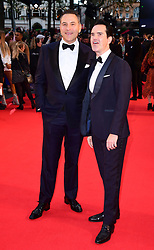 David Walliams and Jimmy Carr attending the Closing Gala and International premiere of The Irishman, held as part of the BFI London Film Festival 2019, London.