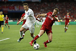 (L-R) Cristiano Ronaldo of Real Madrid, Jordan Henderson of Liverpool FC during the UEFA Champions League final between Real Madrid and Liverpool on May 26, 2018 at NSC Olimpiyskiy Stadium in Kyiv, Ukraine